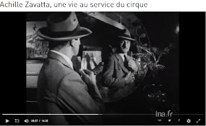 Achille Zavatta, l'élégant clown sur le site de l'ina